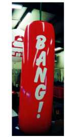 Firecracker helium balloon with lettering