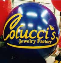 helium balloon with lettering