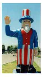 Uncle Sam advertising balloon